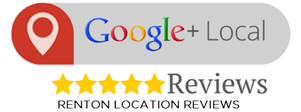 Google + Reviews button for Renton location