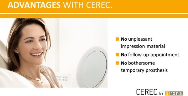 advantages of cerec same-day crowns
