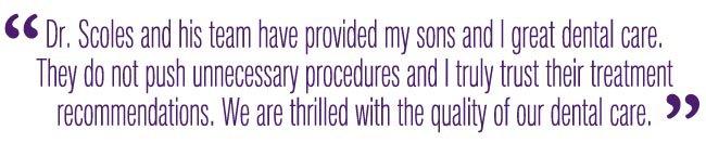 dr michael scoles issaquah dentist testimonial
